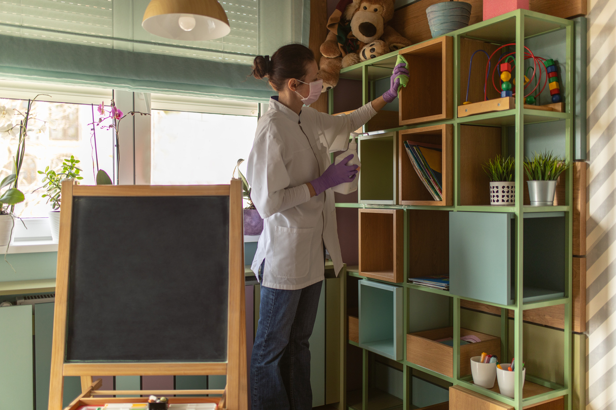 A businesswoman making operational and facility improvements to her daycare center.
