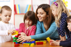 Daycare class in session; classroom ideas for June.