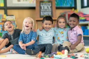Children In a drop-in program.